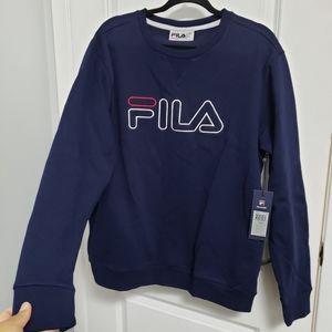 FILA Blue Embroidered Logo Sweatshirt